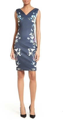 Women's Ted Baker London Katiey Placed Print Sheath Dress $295 thestylecure.com