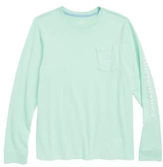 Vineyard Vines Stone Vintage Whale Pocket T-Shirt