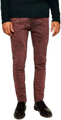 Topman Acid Wash Stretch Skinny Jeans