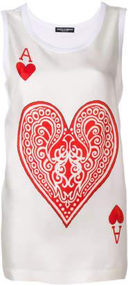 Dolce & Gabbana Queen of Hearts tank top