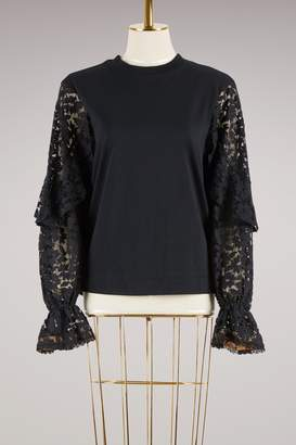 See by Chloe Cotton lace Top