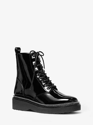 Michael Kors Haskell Patent Leather Combat Boot