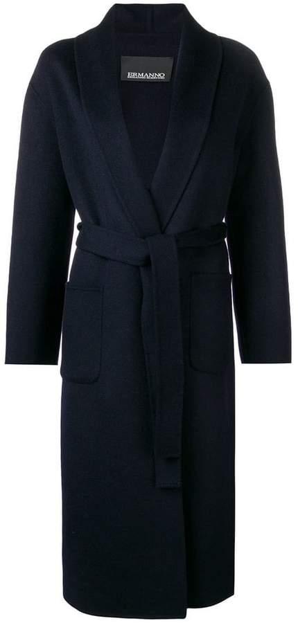 Ermanno Ermanno belted mid-length coat