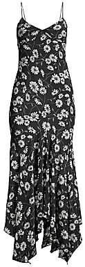 Michael Kors Women's Handkerchief Hem Floral Slip Dress
