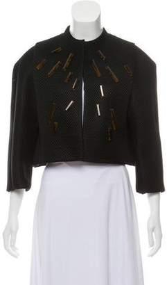 David Szeto Silk Cropped Jacket