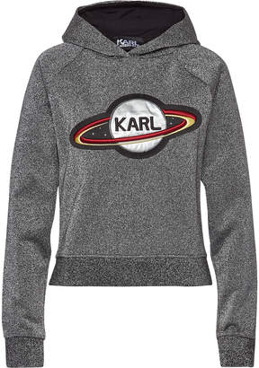Karl Lagerfeld Paris Space Embellished Cotton Hoody