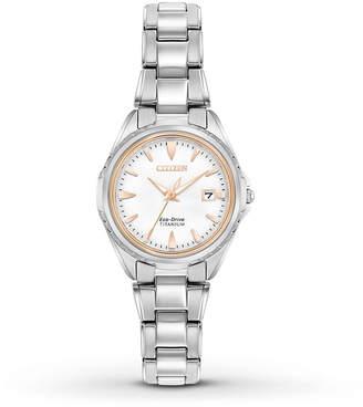 Citizen 28mm Titanium Bracelet Watch, Two-Tone