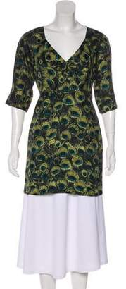 Milly Printed Plunging Neck Tunic