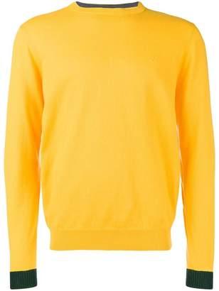 Sun 68 contrast hem sweater
