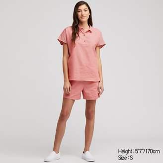 Uniqlo WOMEN Cotton Linen Pajamas Short Sleeve