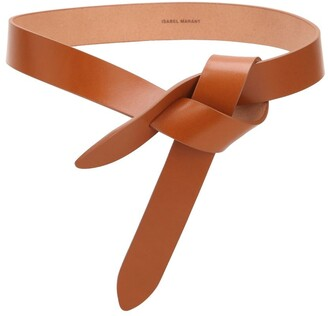 Isabel Marant 30mm Lecce Leather Belt W/bow