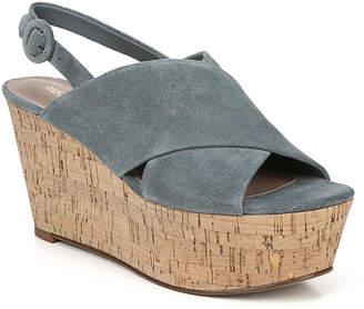 Diane von Furstenberg Juno Suede Platform Wedge Sandals