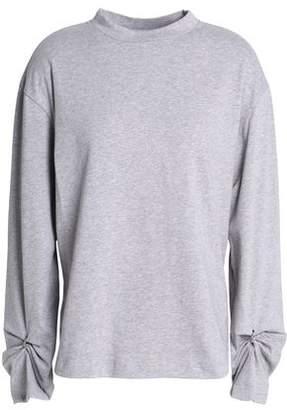 3.1 Phillip Lim Embellished Cutout Mélange Cotton-Jersey Top