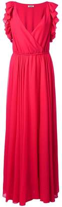 Liu Jo flared pleated maxi dress