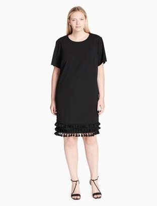 Calvin Klein plus size fringe hem t-shirt dress