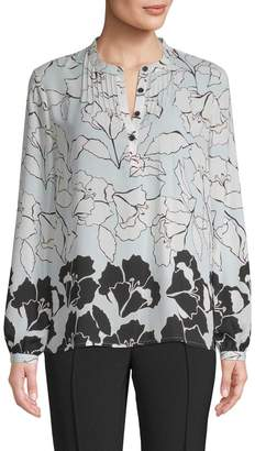 Karl Lagerfeld Women's Floral Blouse