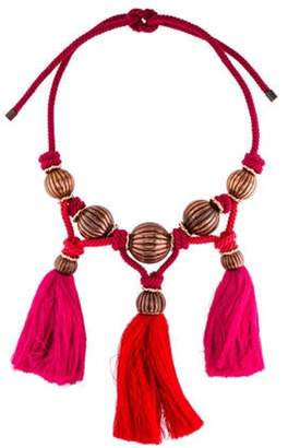 Lanvin Tassel Collar Necklace Red Tassel Collar Necklace