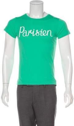 MAISON KITSUNÉ Parisien Graphic T-Shirt