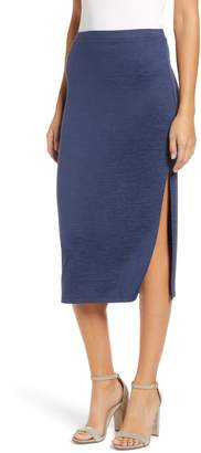 Leith High Slit Marled Midi Skirt