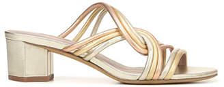9a98ed5056b8 Diane von Furstenberg Jada Metallic Leather Slide Sandals