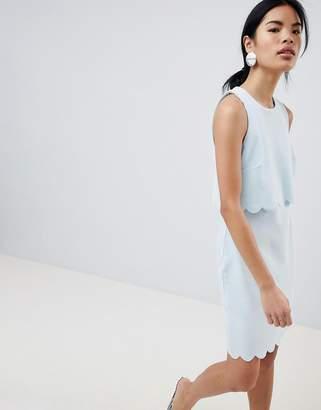 New Look Scallop Edge Shift Dress