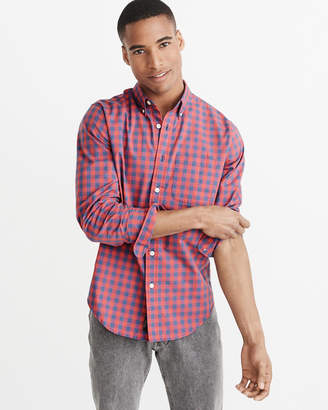Abercrombie & Fitch Tall Fit Stretch Poplin Shirt
