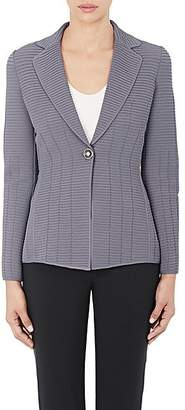 Giorgio Armani Women's Ottoman Single-Button Jacket - Purple