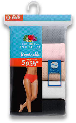 Fruit of the Loom 5-Pack Womens Breathable Low-Rise Brief Panties - 5DBL5F0