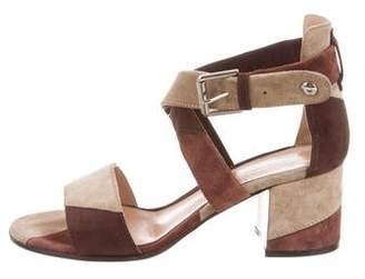 Gianvito Rossi Patchwork Ankle-Strap Sandals