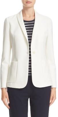 Women's Armani Collezioni Tech Stretch Blazer $695 thestylecure.com