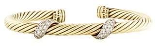 David Yurman 18K Diamond Cable Bracelet