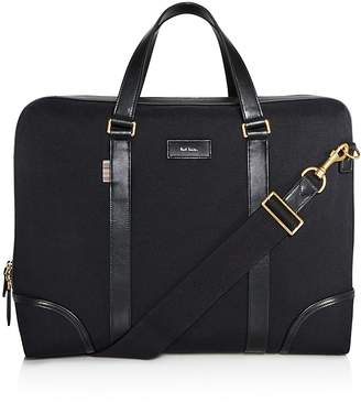 Paul Smith Canvas and Leather Detail Briefcase