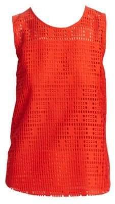 Akris Punto Lace-Front Sleeveless Top