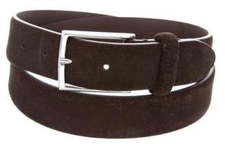 Andersons Anderson's Silver-Tone Suede Belt