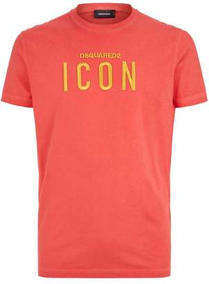 DSQUARED2 Logo Icon Embroidered T-Shirt