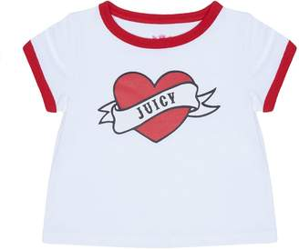 Juicy Couture Juicy Valentine Short Sleeve Ringer Tee for Baby