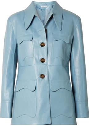 REJINA PYO Olivia Faux Leather Jacket - Blue
