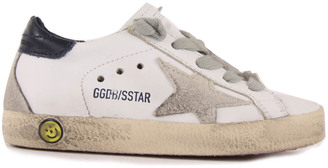 GOLDEN GOOSE Superstar Lace-Up Leather Trainers $224.40 thestylecure.com