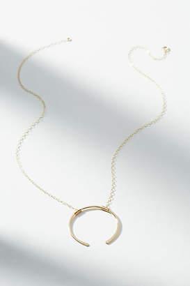Hello Adorn Open Circle Pendant Necklace
