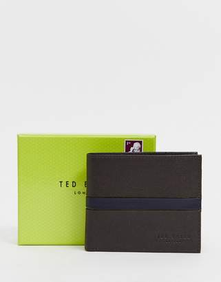 Ted Baker Freemer Colour Block Billfold & Coin Wallet with RFID