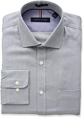 Tommy Hilfiger Men's Non Iron Slim Fit Micro Check Dress Shirt