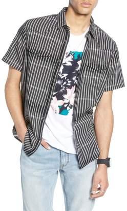 Treasure & Bond Regular Fit Stripe Plaid Western Shirt