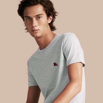 Burberry Liquid-soft Cotton T-shirt $105 thestylecure.com