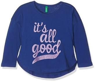 Benetton Girl's 3QT6C12WN T-Shirt,(Manufacturer Size:XX)