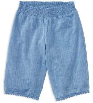 Ralph Lauren Girls' Cropped Chambray Culottes - Big Kid