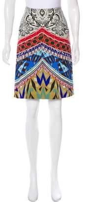 Etro Paneled Knee-Length Skirt