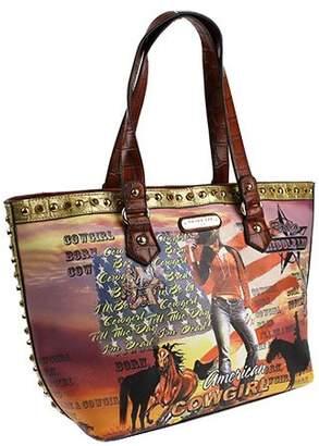 Nicole Lee Cowgirl Flag Shoulder Bag