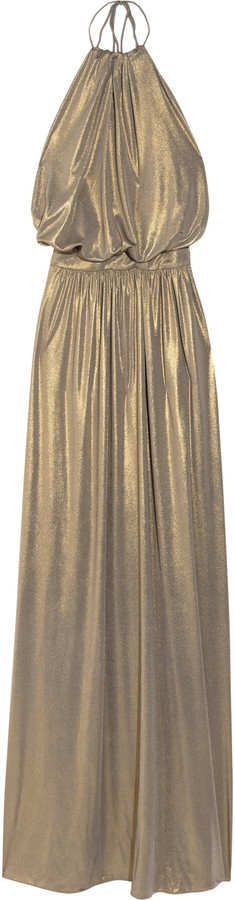 Tibi Metallic stretch-jersey maxi dress