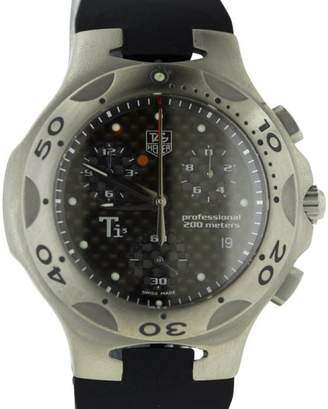 Tag Heuer Kirium CL1180 Ti5 Titanium Chronograph Rubber Strap Mens Watch