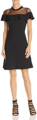 Nanette Lepore nanette Ruffled Illusion Dress